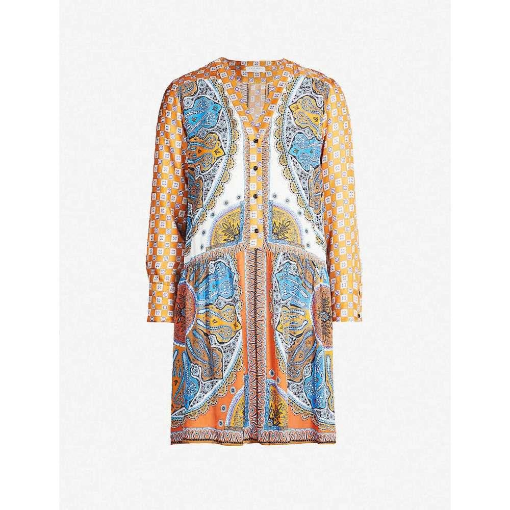 サンドロ SANDRO レディース ワンピース・ドレス ワンピース【Paisley-print satin-twill mini dress】Multi color