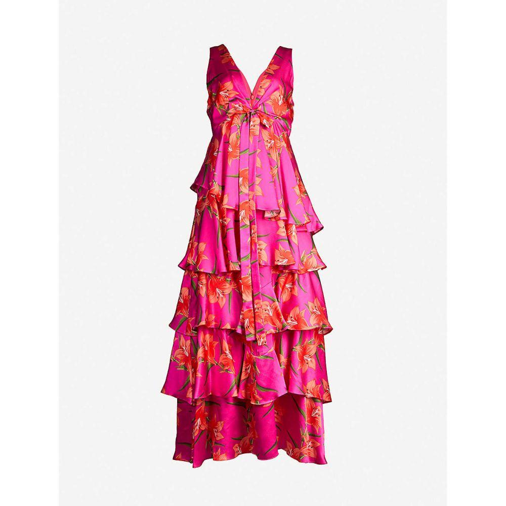 ノア ド ボルゴ BORGO DE NOR レディース ワンピース・ドレス ワンピース【Flavia silk-satin dress】Hawaiian lily fuschia, カグマル 63c1043d