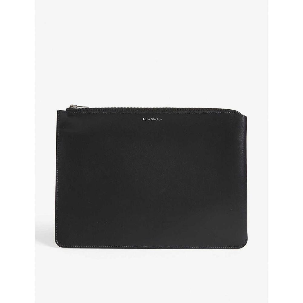 アクネ ストゥディオズ ACNE STUDIOS メンズ ポーチ【Malachite leather pouch】Black