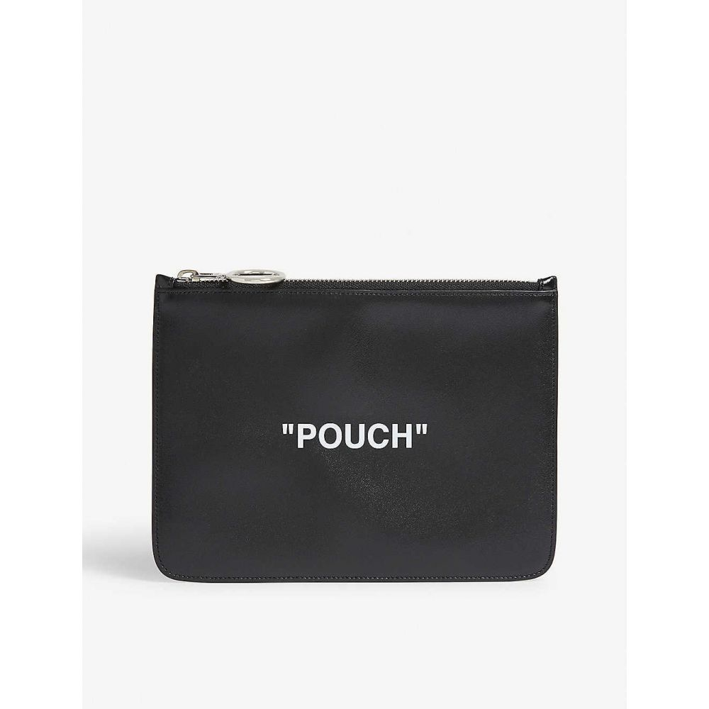 オフホワイト OFF-WHITE C/O VIRGIL ABLOH メンズ ポーチ【Quote pouch】Black white