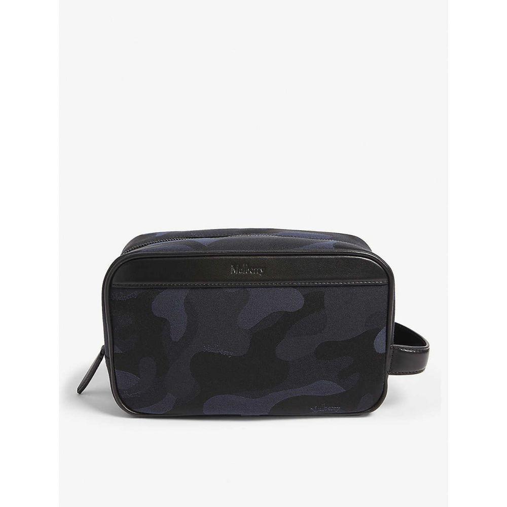 マルベリー MULBERRY メンズ ポーチ【Camouflage nylon wash bag】Midnight black