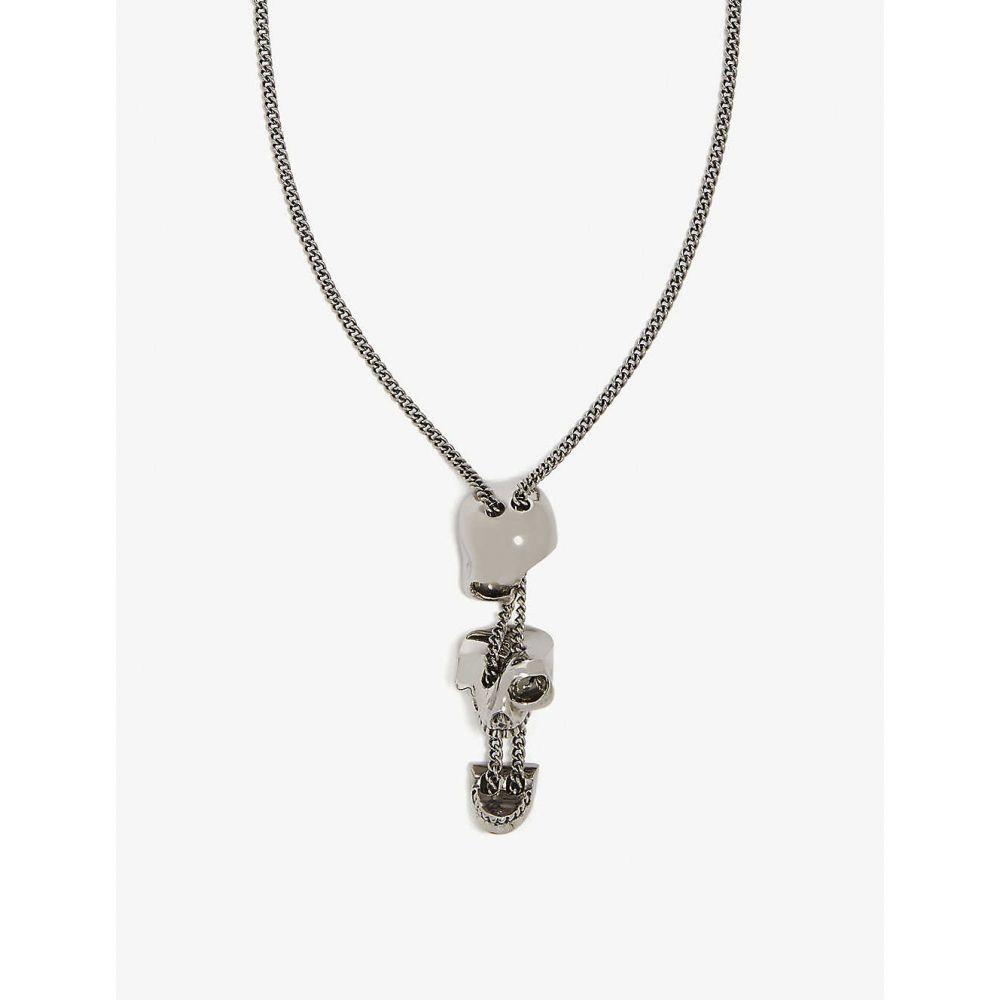 アレキサンダー マックイーン ALEXANDER MCQUEEN メンズ ジュエリー・アクセサリー ネックレス【Divided skull necklace】Silver