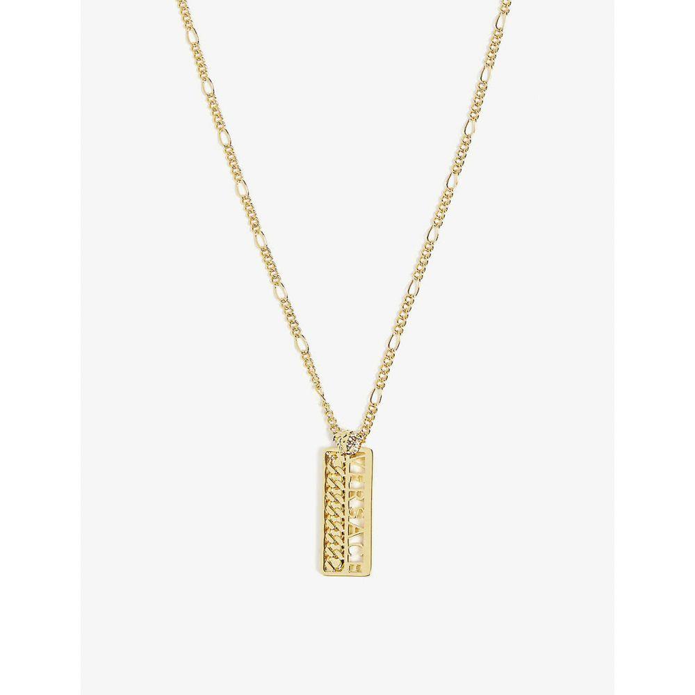 ヴェルサーチ VERSACE メンズ ジュエリー・アクセサリー ネックレス【Bar necklace】Gold