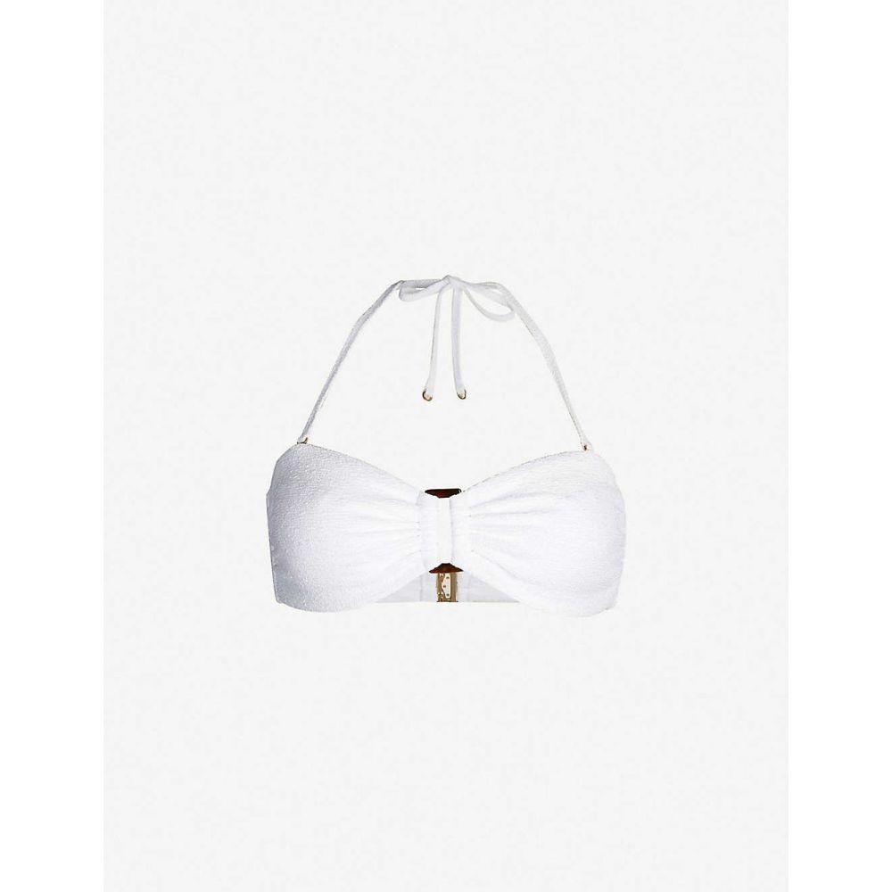 リース REISS レディース 水着・ビーチウェア トップのみ【Florentina textured bandeau bikini top】White