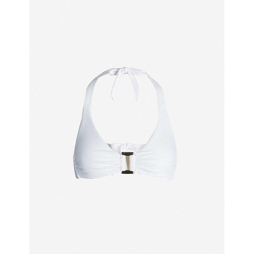 ハイジ クライン HEIDI KLEIN レディース 水着・ビーチウェア トップのみ【Core textured rectangle bikini top】White