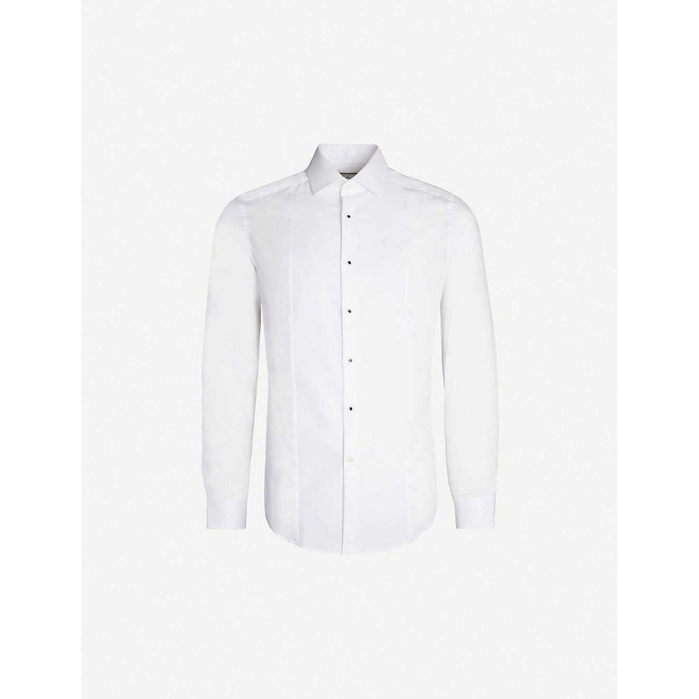 リース REISS メンズ トップス シャツ【Marcel slim-fit cotton shirt】White