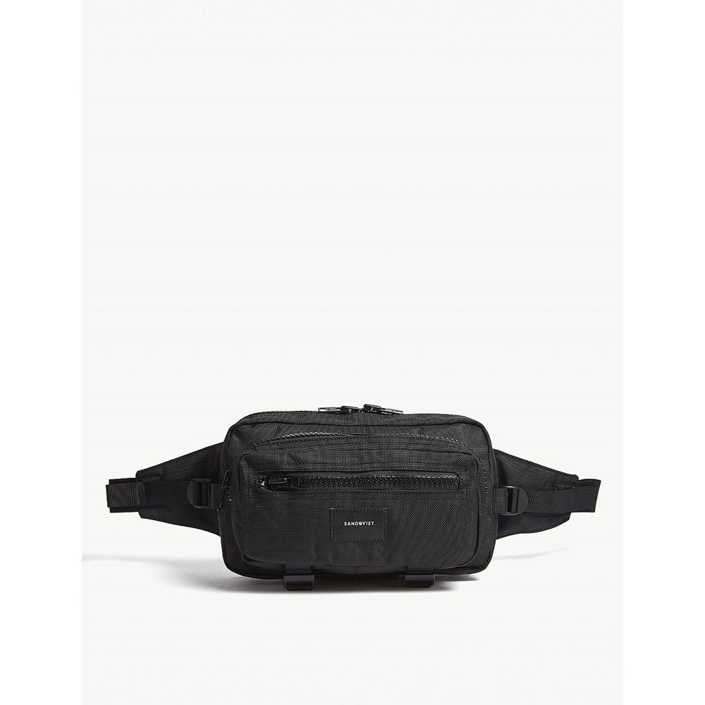 サンドクヴィスト SANDQVIST メンズ バッグ ボディバッグ・ウエストポーチ【Felix canvas bum bag】Black