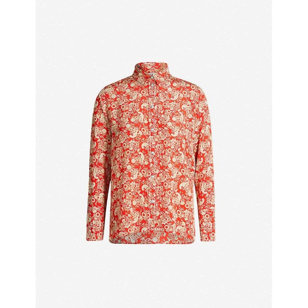 サンドロ SANDRO レディース トップス ブラウス・シャツ【Paisley silk shirt】Red