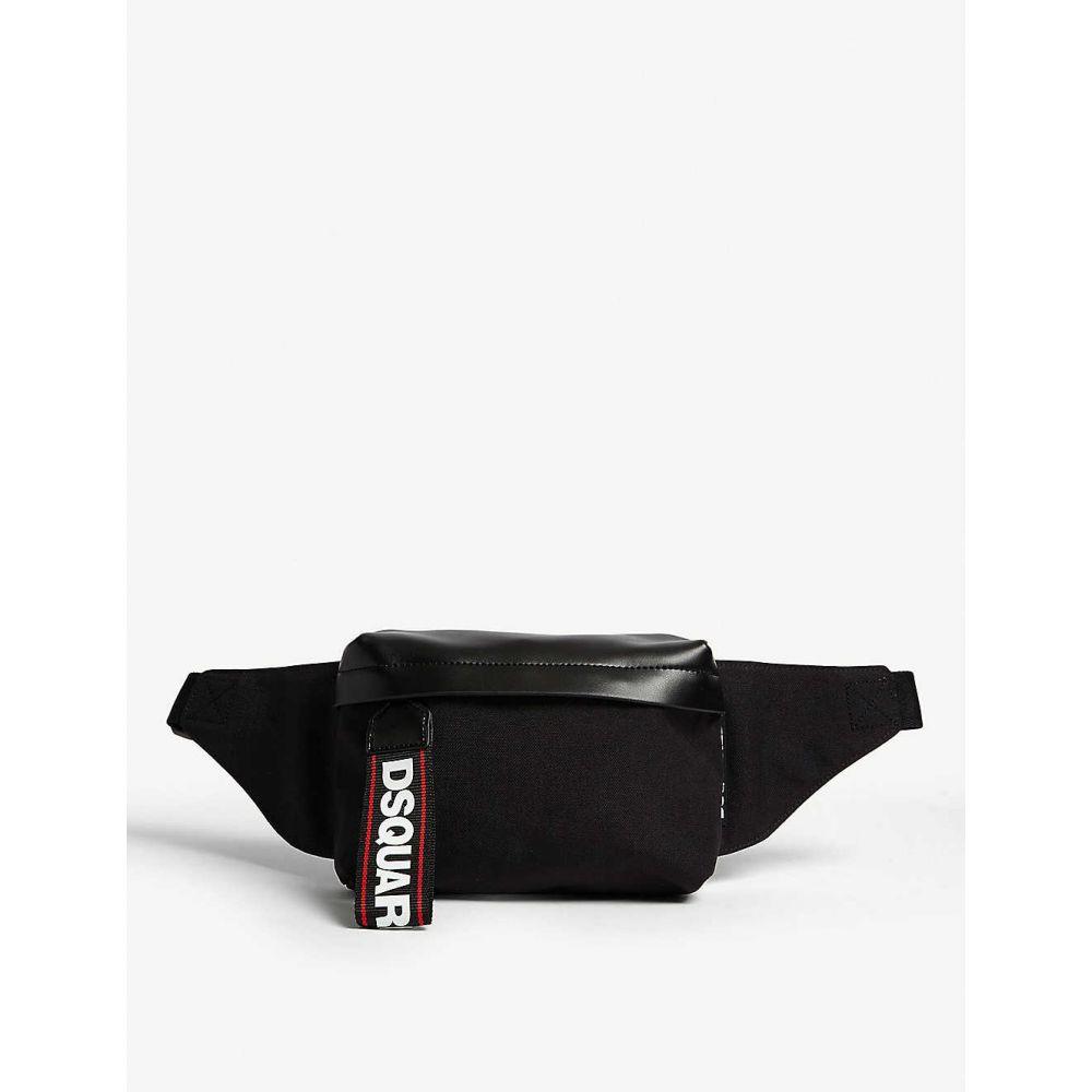 ディースクエアード DSQUARED2 ACC メンズ バッグ ボディバッグ・ウエストポーチ【Logo tape nylon bumbag】Black