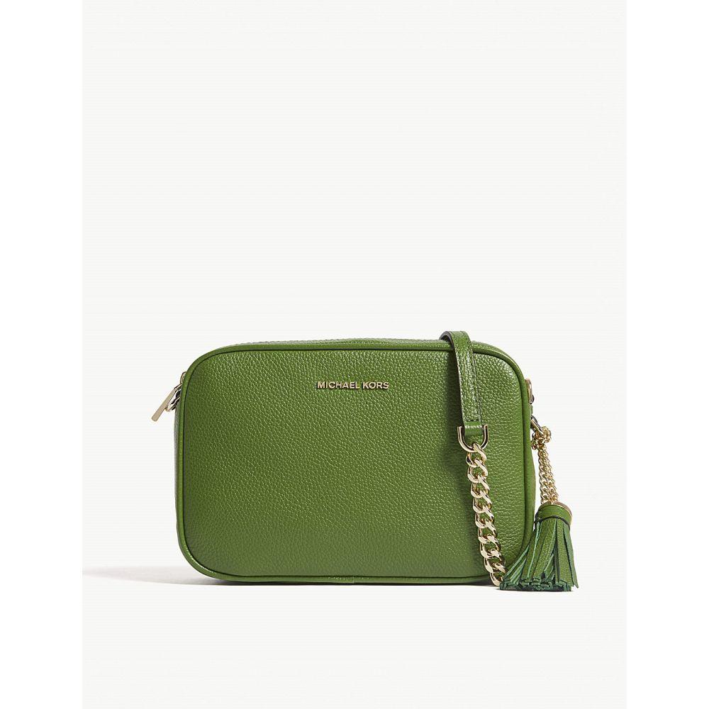 マイケル コース MICHAEL MICHAEL KORS レディース バッグ ショルダーバッグ【Ginny leather cross-body bag】True green