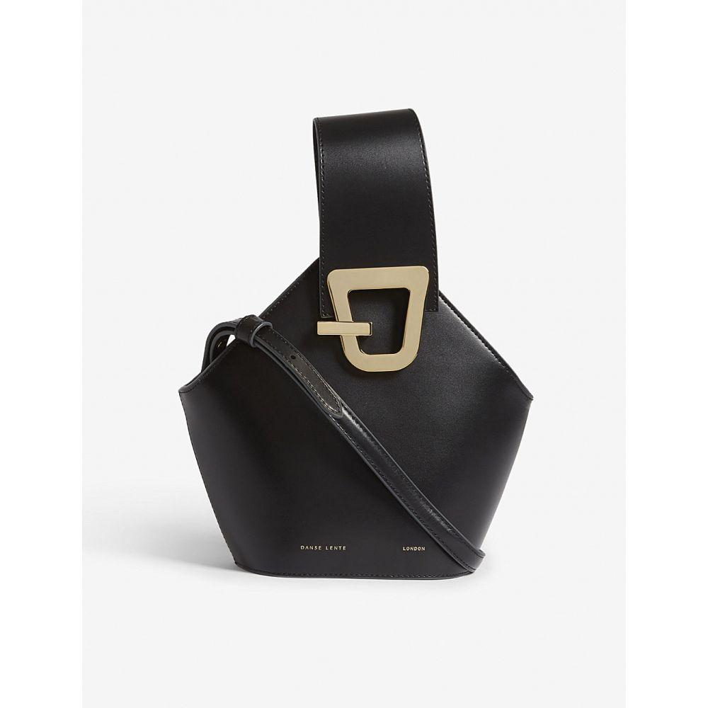 ダンスレンテ DANSE LENTE レディース バッグ ショルダーバッグ【Johnny mini leather bucket bag】Black