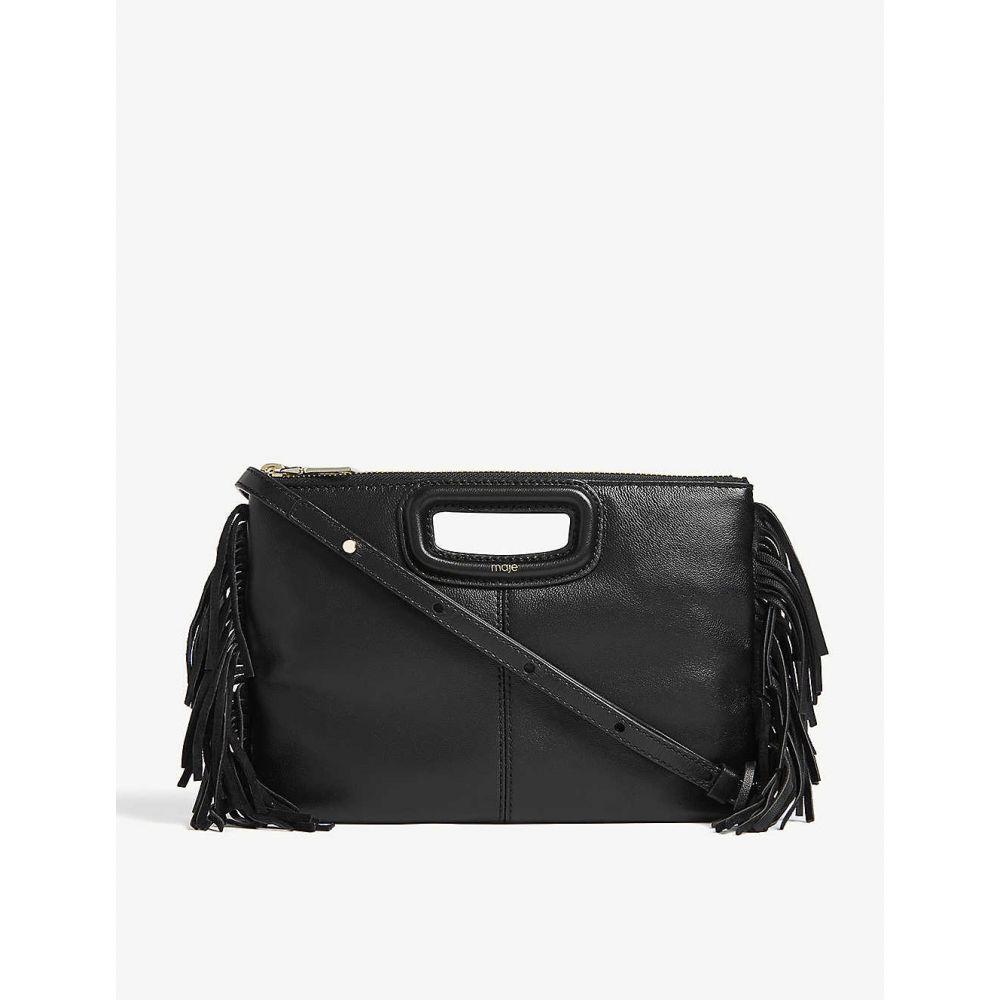 マージュ MAJE レディース バッグ ショルダーバッグ【M Duo suede cross-body bag】Black