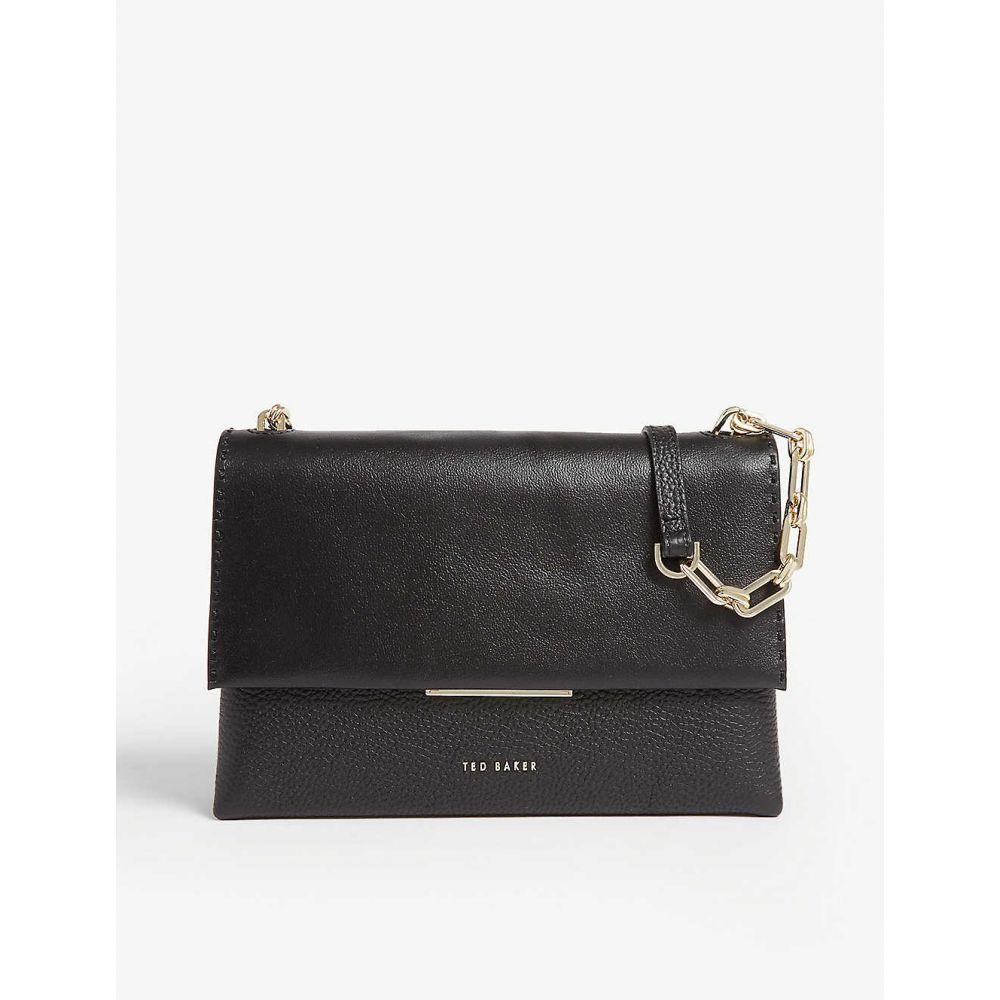 テッドベーカー TED BAKER レディース バッグ ショルダーバッグ【Bar detail leather cross-body bag】Black