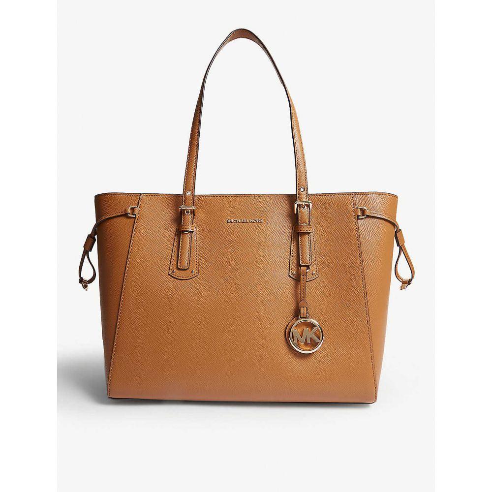 マイケル コース MICHAEL MICHAEL KORS レディース バッグ トートバッグ【Voyager crossgrain leather tote bag】Acorn