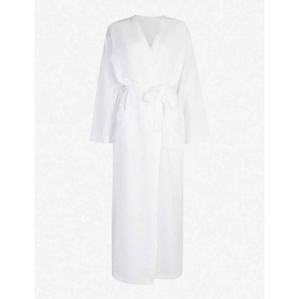 ザ ホワイト カンパニー THE WHITE COMPANY レディース インナー・下着 ガウン・バスローブ【Textured waffle cotton bathrobe】White