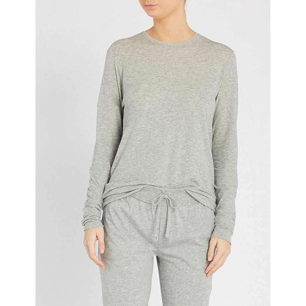 スキン SKIN レディース インナー・下着 パジャマ・トップのみ【Long-sleeved cotton-jerey pyjama top】Heather grey