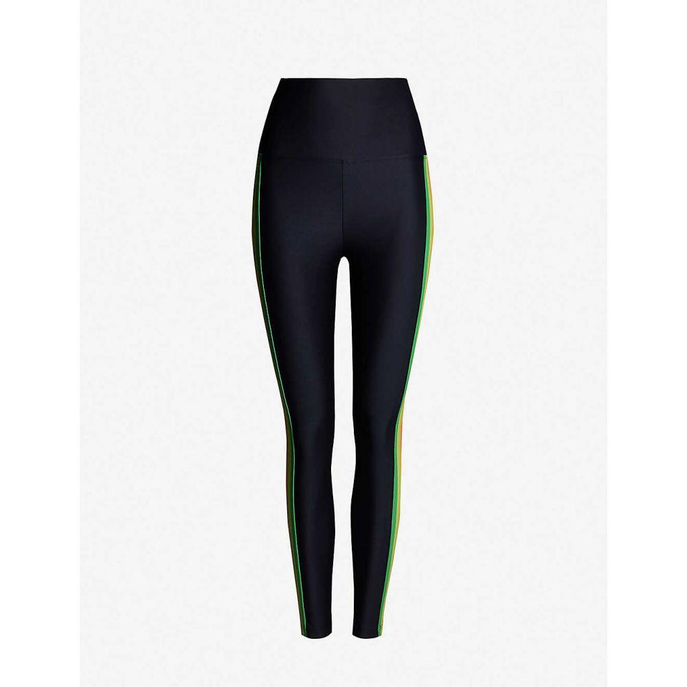 ビーチライオット BEACH RIOT レディース インナー・下着 スパッツ・レギンス【Jade high-rise striped stretch-jersey leggings】Neon stipe