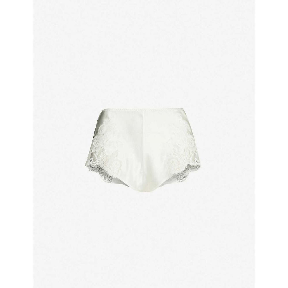 マルジョレーヌ MARJOLAINE レディース インナー・下着 パジャマ・ボトムのみ【Gemma lace-panel silk-satin shorts】naturel