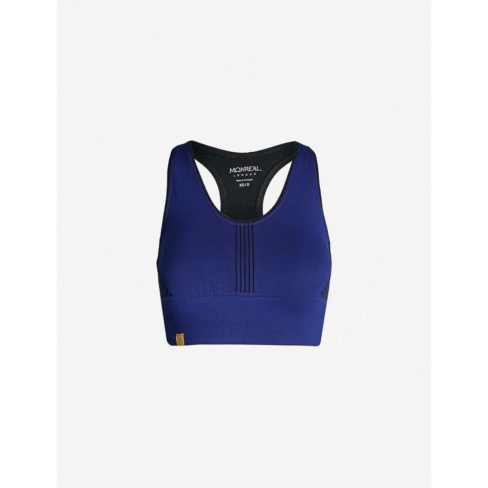 モンレアル ロンドン MONREAL LONDON レディース インナー・下着 スポーツブラ【Scoop-neck padded stretch-jersey bra】Indigo black