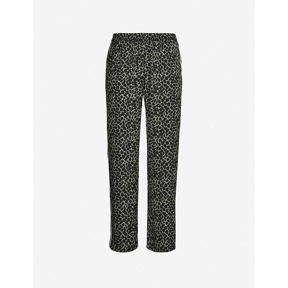ラブストーリーズ LOVE STORIES レディース インナー・下着 パジャマ・ボトムのみ【Weekend leopard-print satin pyjama bottoms】Black