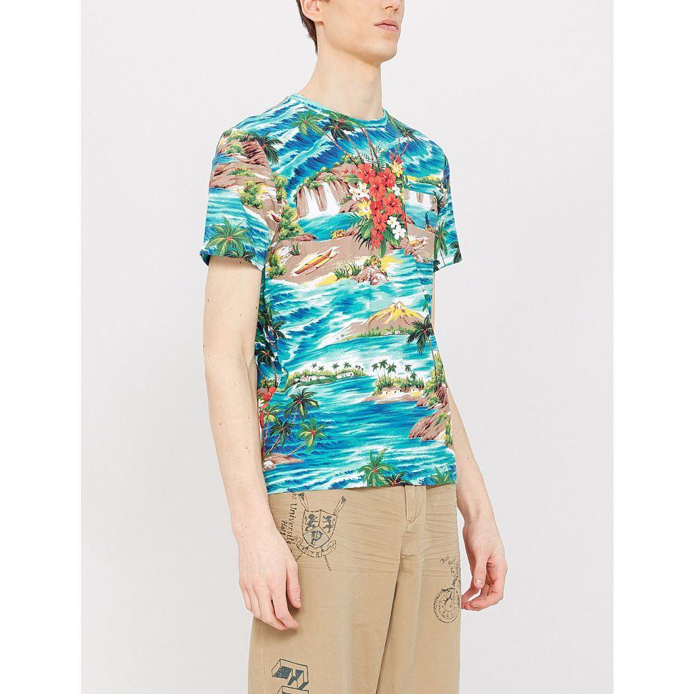 ラルフ ローレン POLO RALPH LAUREN POLO メンズ トップス トップス Tシャツ【Scenic-print hawaiian slim-fit cotton T-shirt】Outrigger hawaiian, サガエシ:0f4b60e7 --- officewill.xsrv.jp