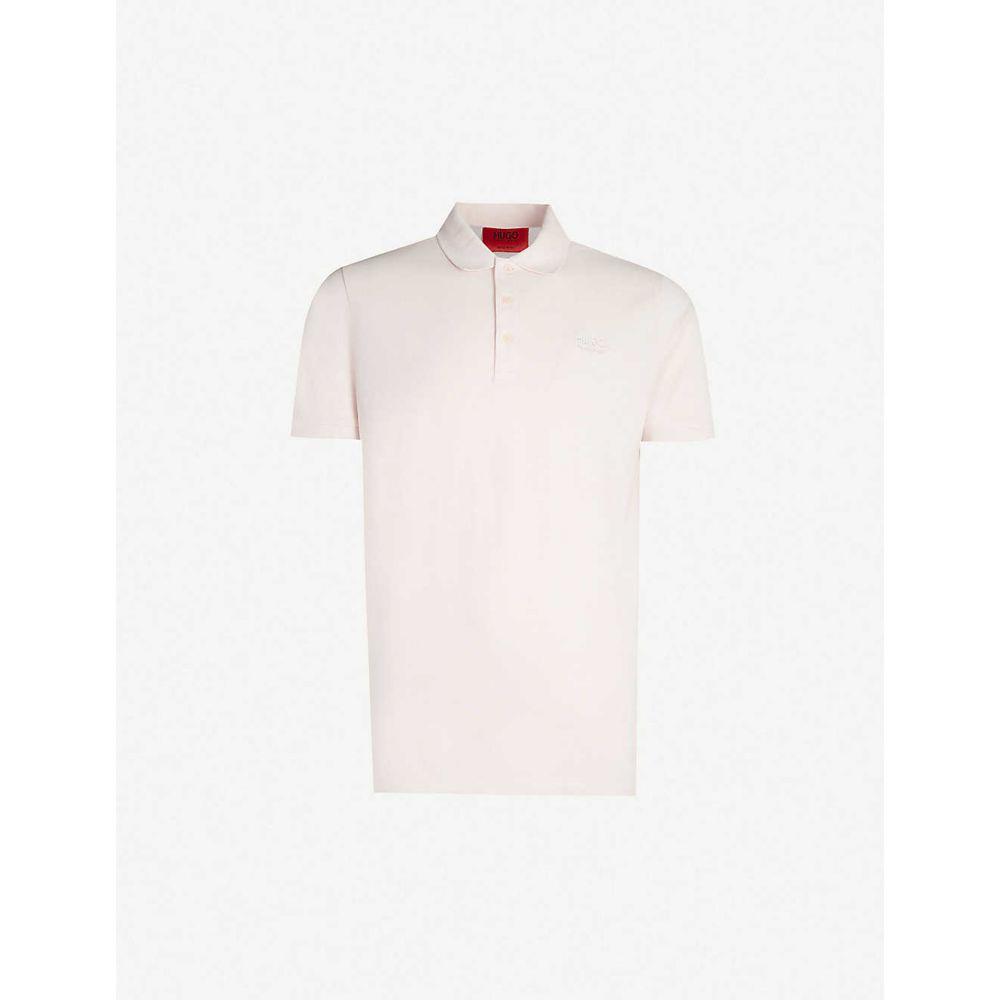 ヒューゴ ボス HUGO メンズ トップス ポロシャツ【Logo-embroidered regular-fit cotton-pique polo shirt】Light/pastel pink