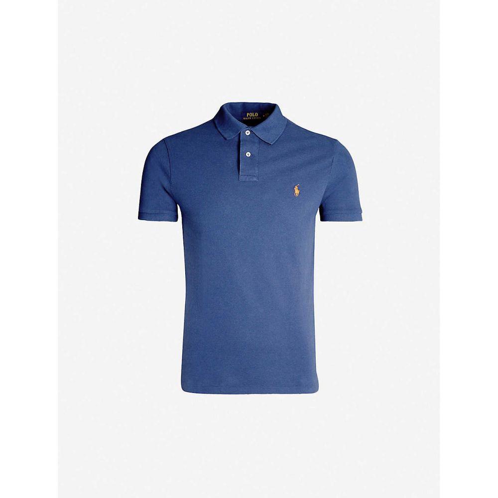 ラルフ ローレン POLO RALPH LAUREN メンズ トップス ポロシャツ【Logo-embroidered slim-fit cotton polo shirt】Light navy