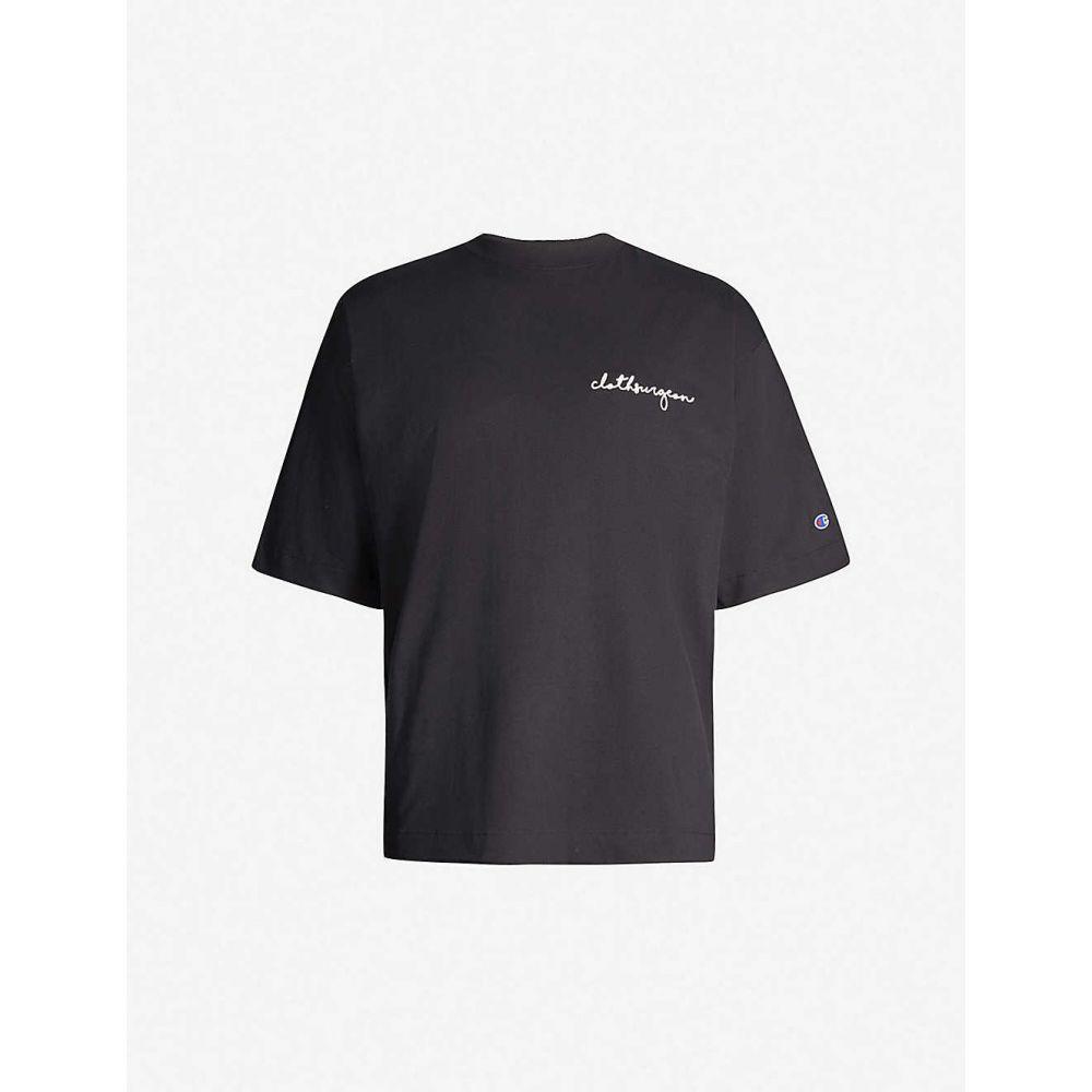 チャンピオン CHAMPION メンズ トップス T-shirt】Black Tシャツ【Champion x CHAMPION Cloth Cloth Surgeon branded cotton-jersey T-shirt】Black, ワンピースならJENNY(ジェニー):e2de62ce --- officewill.xsrv.jp