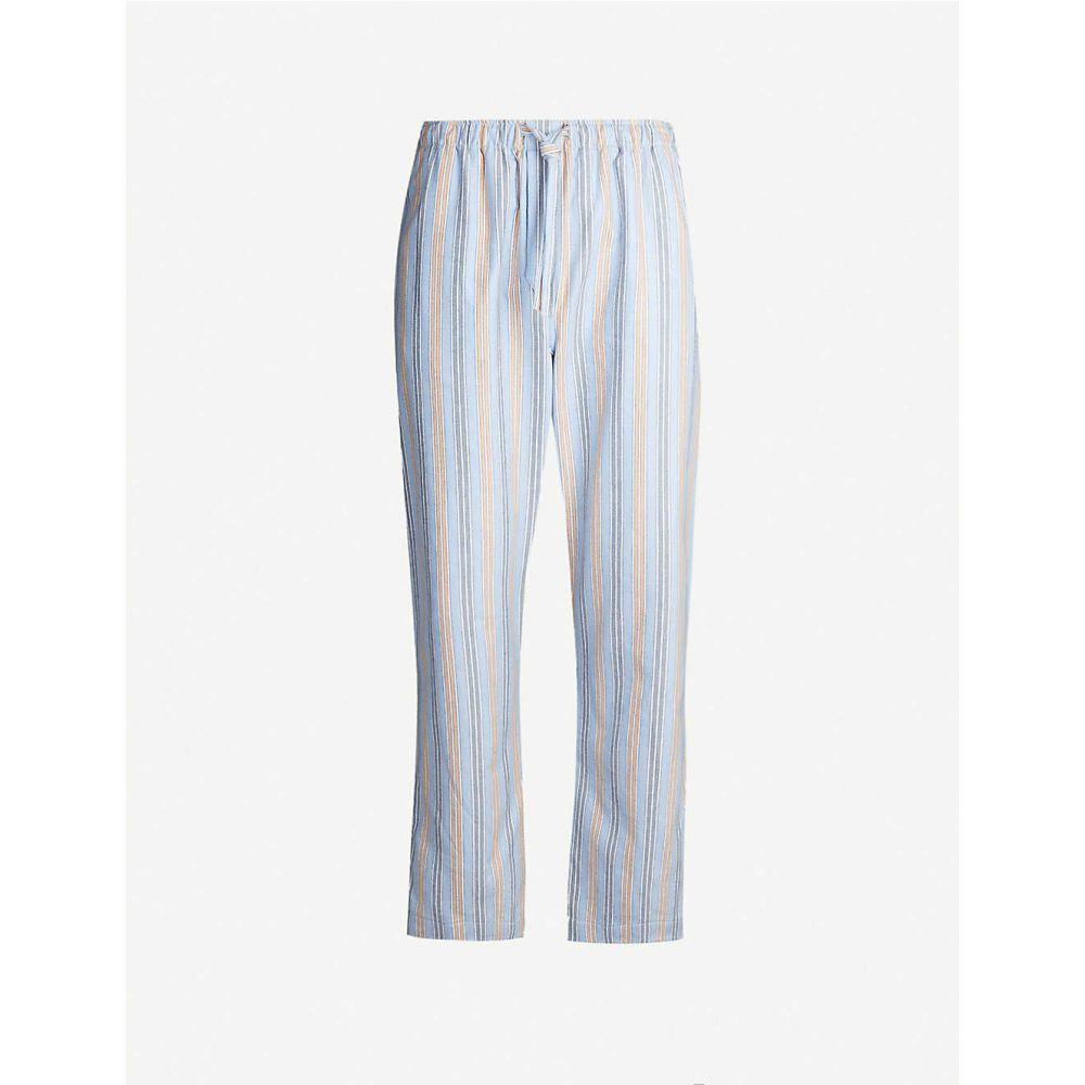デリック ローズ DEREK ROSE メンズ ボトムス・パンツ【Arctic striped cotton trousers】Blue