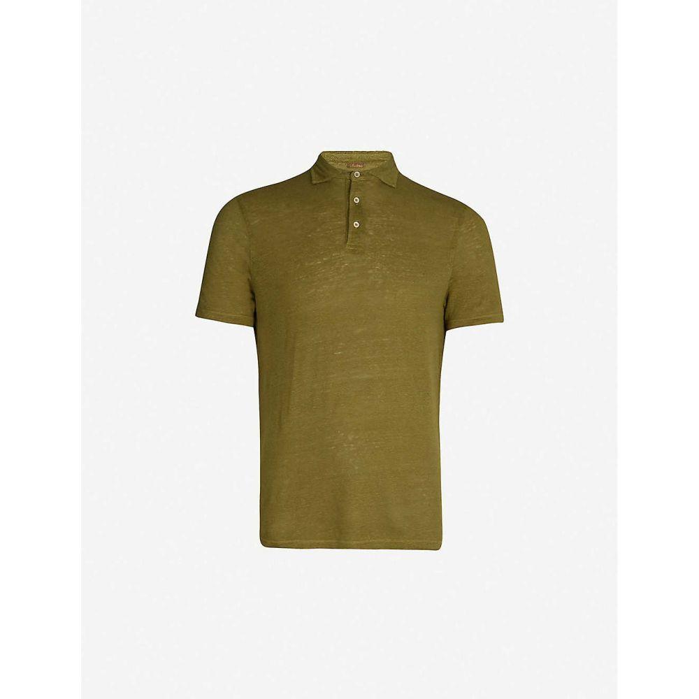 ステンストローム STENSTROMS メンズ トップス ポロシャツ【Short-sleeved linen polo shirt】Green