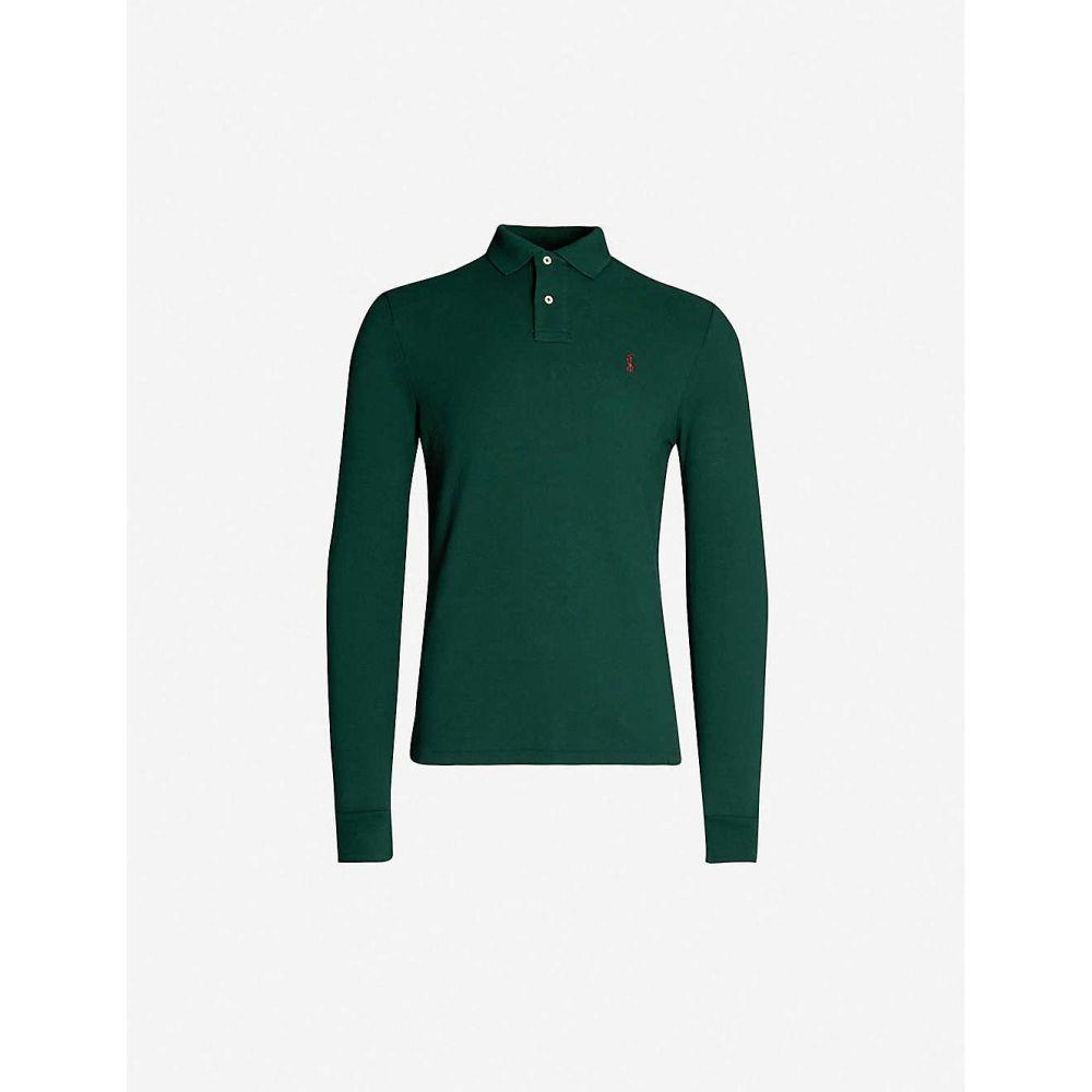 ラルフ ローレン POLO RALPH LAUREN メンズ トップス ポロシャツ【Logo-embroidered slim-fit cotton-pique polo shirt】Green