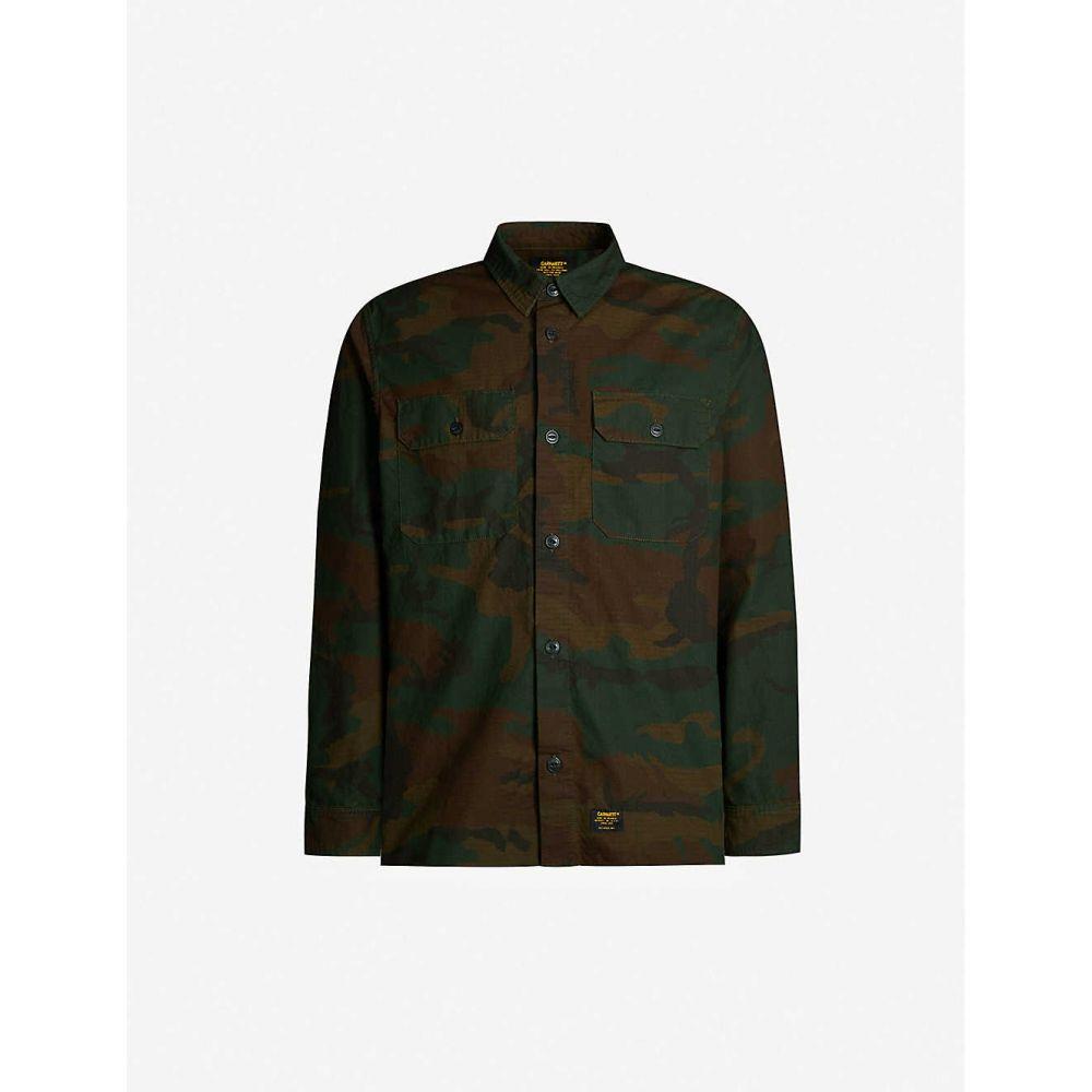 カーハート CARHARTT WIP メンズ トップス シャツ【Mission camo-print regular-fit cotton shirt】Camo