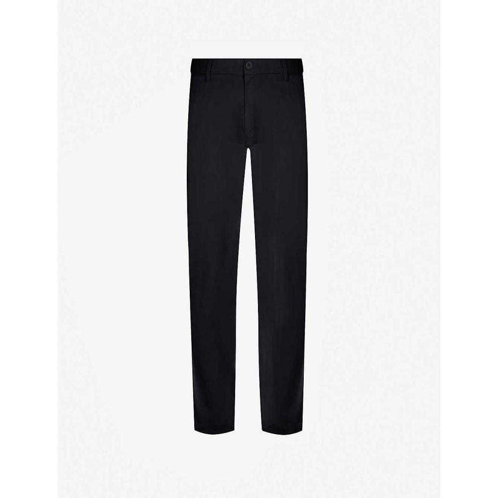 トミー ヒルフィガー TOMMY HILFIGER メンズ ボトムス・パンツ【Tapered stretch-cotton-blend trousers】Jet black