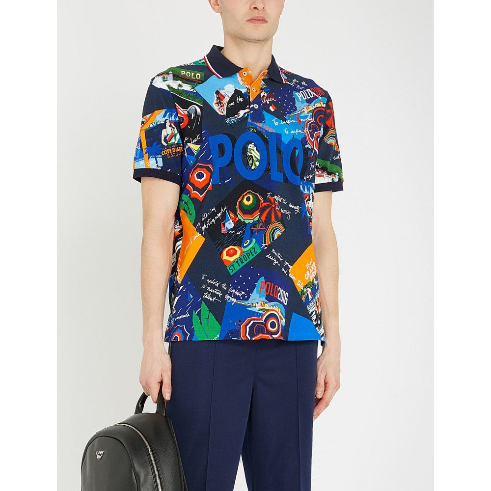 ラルフ ローレン POLO RALPH LAUREN メンズ トップス ポロシャツ【Graphic-print cotton-pique polo shirt】Poster diary