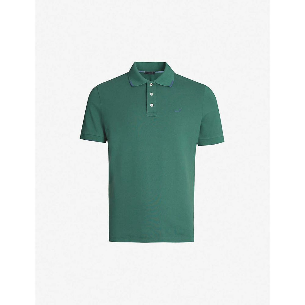 ヤコブ コーエン JACOB COHEN メンズ トップス ポロシャツ【Collar tip stretch-cotton polo shirt】Green