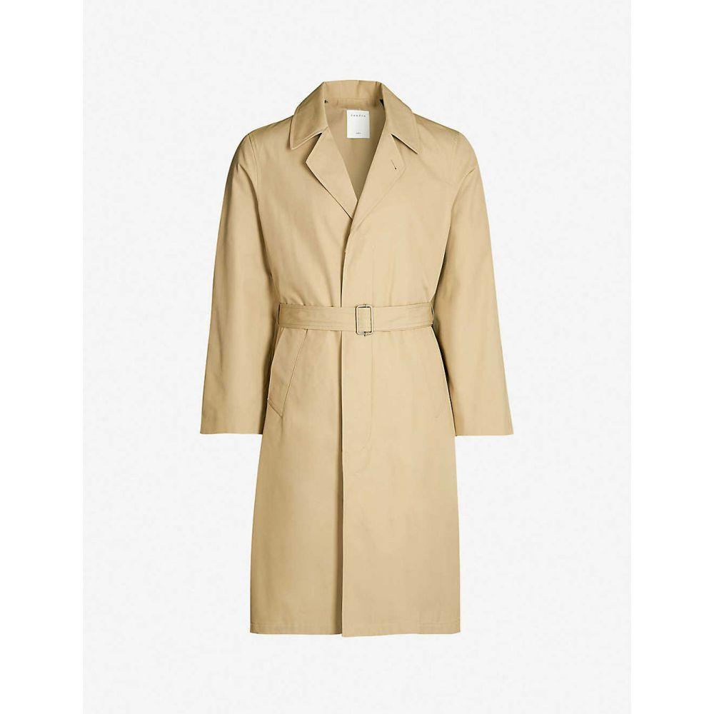 サンドロ SANDRO メンズ アウター トレンチコート【Single-breasted cotton trench coat】Beige