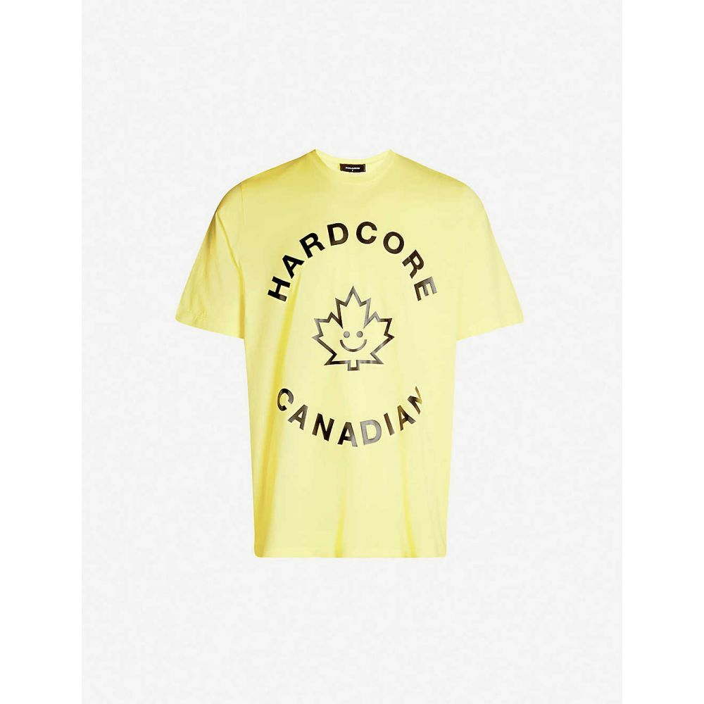 ディースクエアード DSQUARED2 メンズ トップス Tシャツ【Hardcore Canadian cotton-jersey T-shirt】Yellow