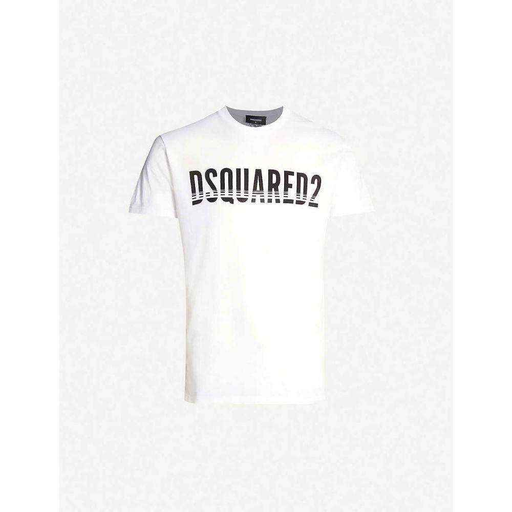 ディースクエアード DSQUARED2 メンズ トップス Tシャツ【Logo-print cotton-jersey T-shirt】White
