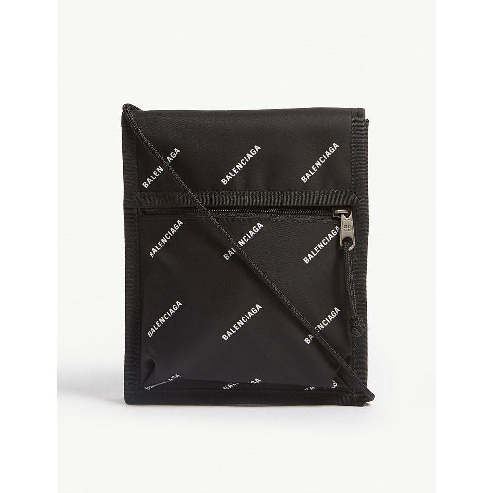 バレンシアガ BALENCIAGA メンズ ポーチ【Explorer nylon pouch】Black/white