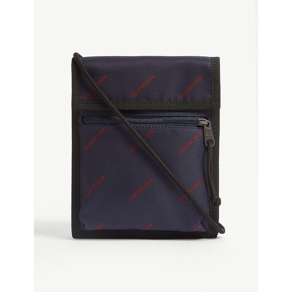 バレンシアガ BALENCIAGA メンズ ポーチ【Explorer nylon pouch】Navy/red