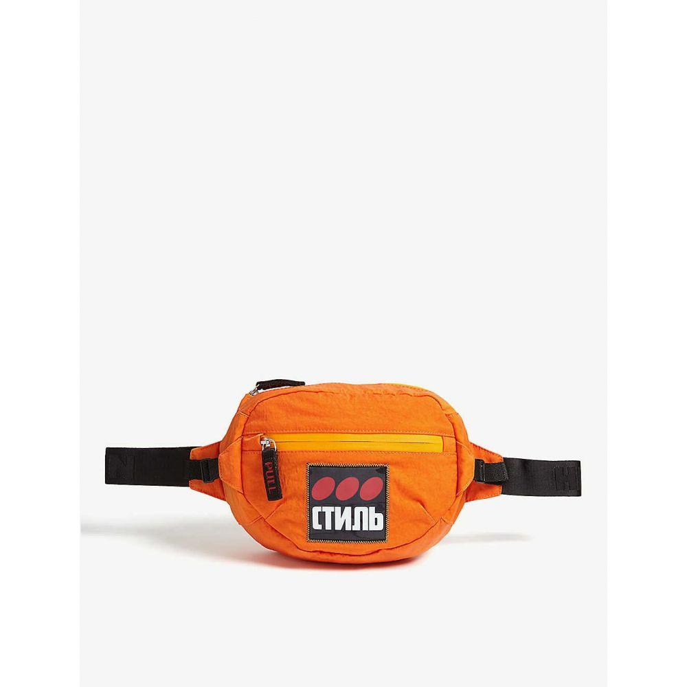 ヘロン プレストン HERON PRESTON メンズ バッグ ボディバッグ・ウエストポーチ【three dots nylon bumbag】Orange multi