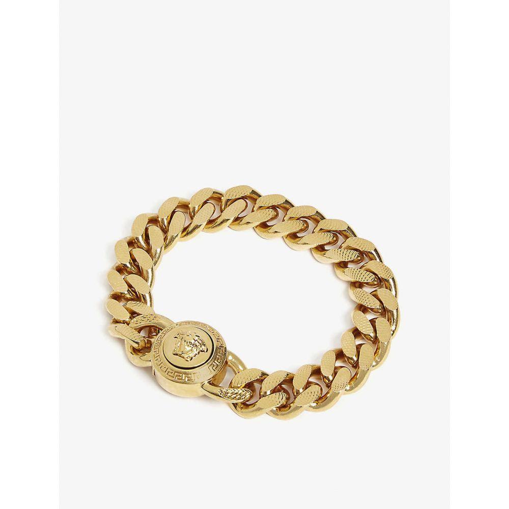 ヴェルサーチ VERSACE メンズ ジュエリー・アクセサリー ブレスレット【Medusa chain bracelet】Gold