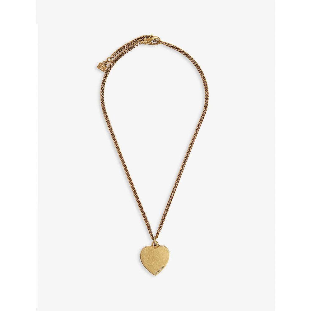 バレンシアガ BALENCIAGA メンズ ジュエリー・アクセサリー ネックレス【Heart locket necklace】Antique gold