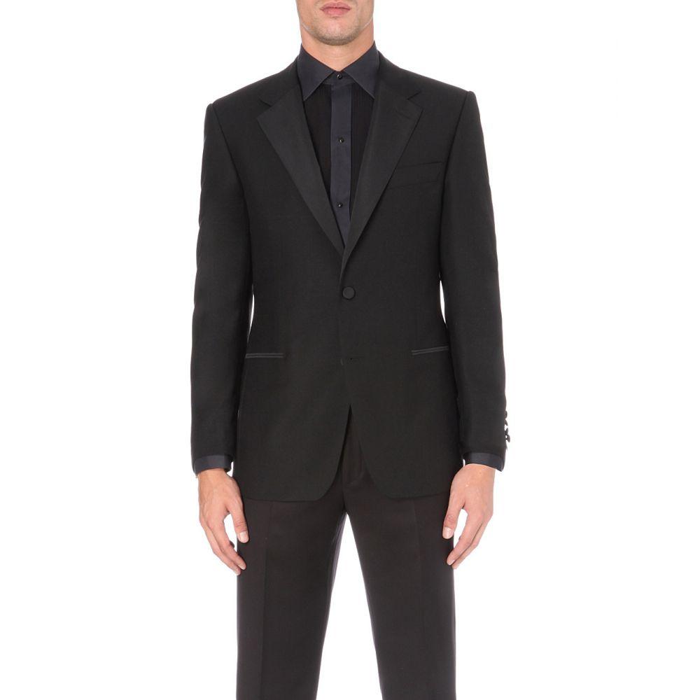 ギーブス アンド ホークス GIEVES & HAWKES メンズ アウター スーツ・ジャケット【Regular-fit wool and mohair-blend dinner jacket】Black