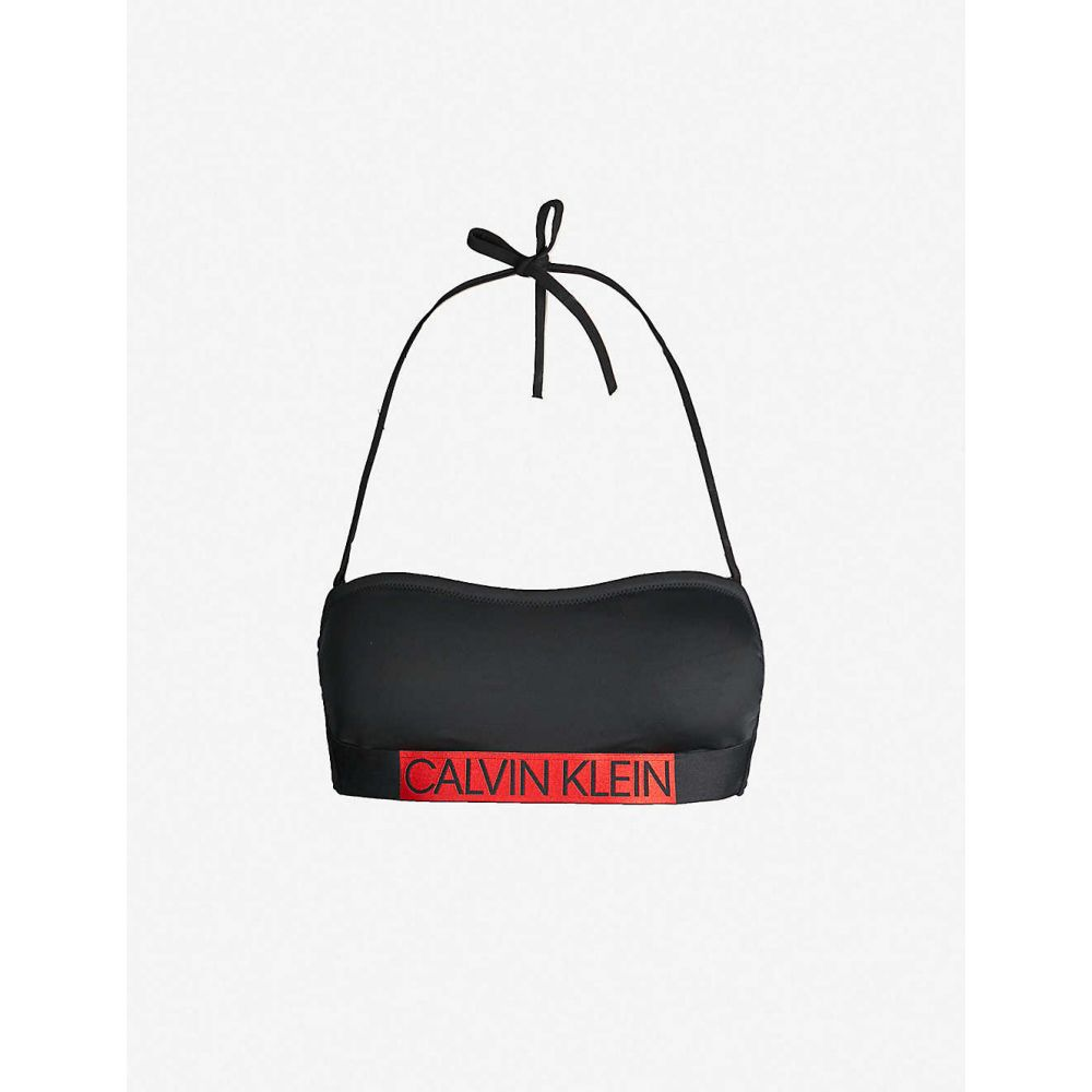 カルバンクライン CALVIN KLEIN レディース 水着・ビーチウェア トップのみ【Core Icon bandeau bikini top】pvh black