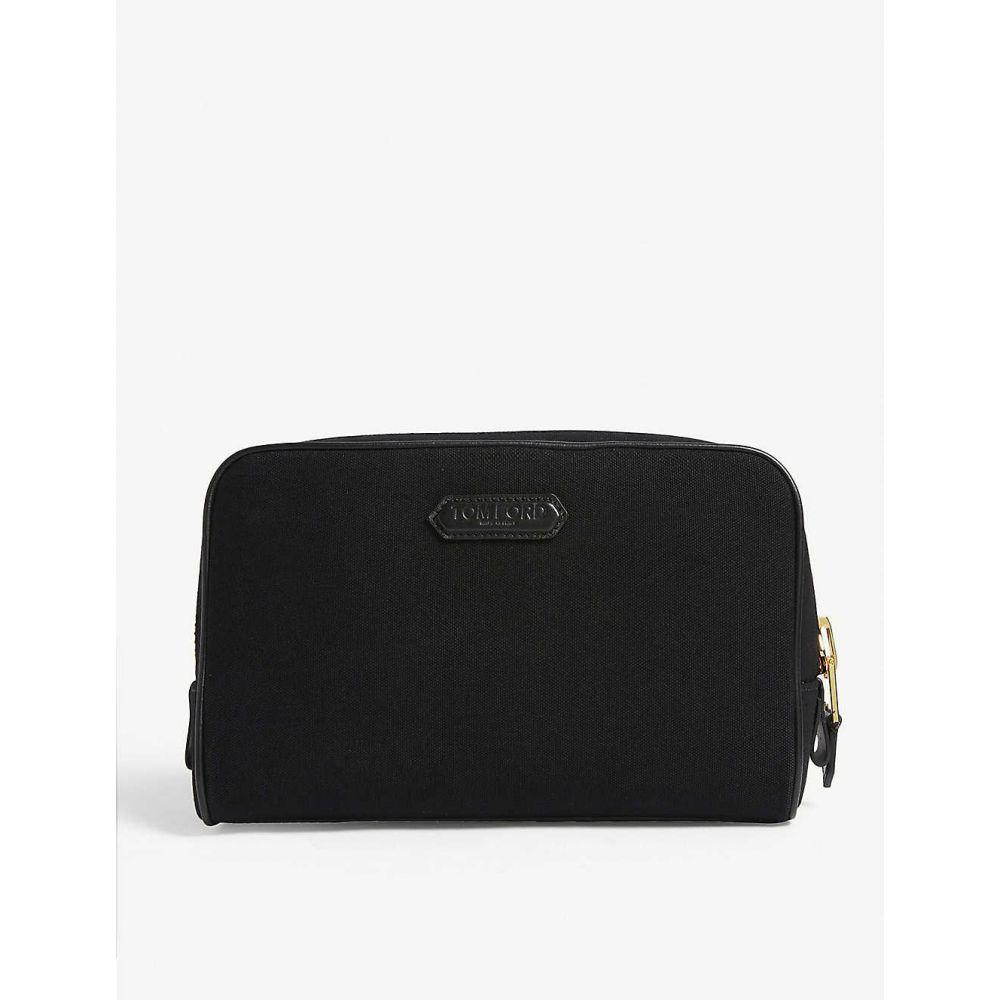 TOM メンズ bag】Black FORD ポーチ【Canvas フォード トム wash
