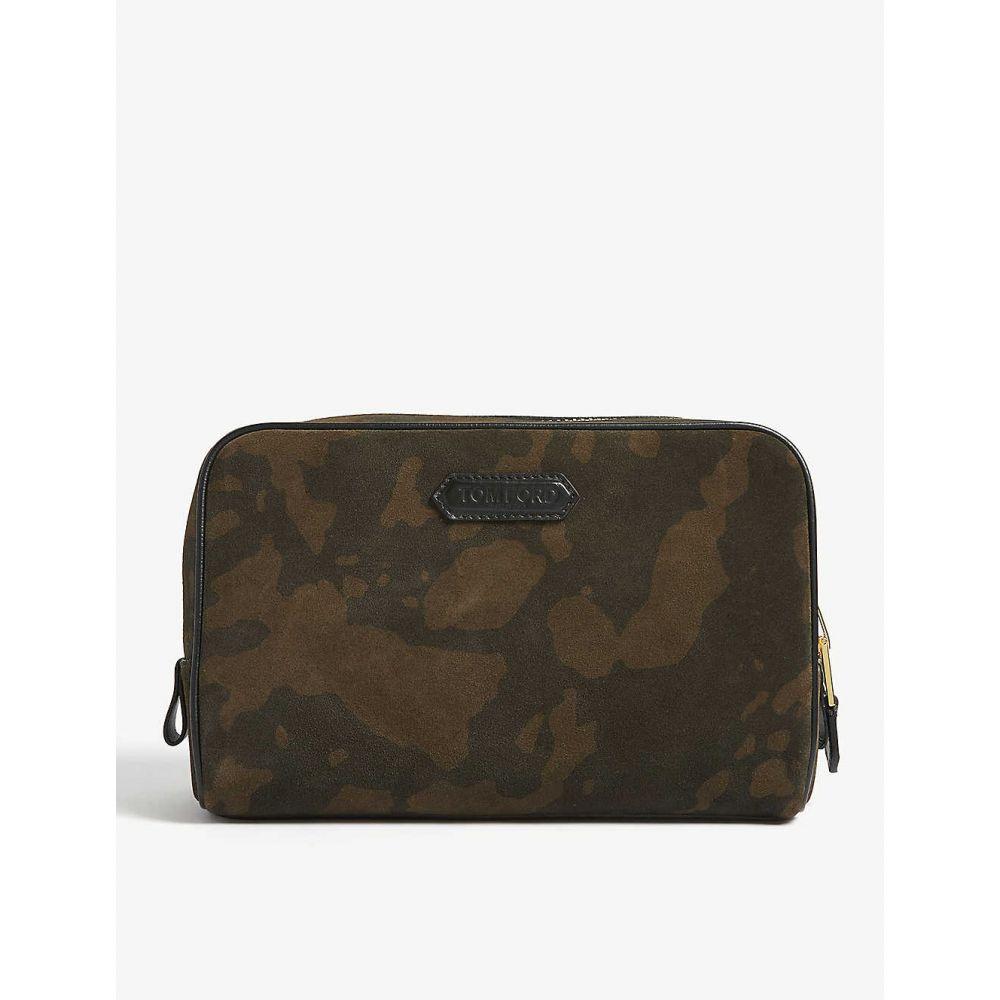 トム フォード TOM FORD メンズ ポーチ【Camouflage nylon wash bag】Green