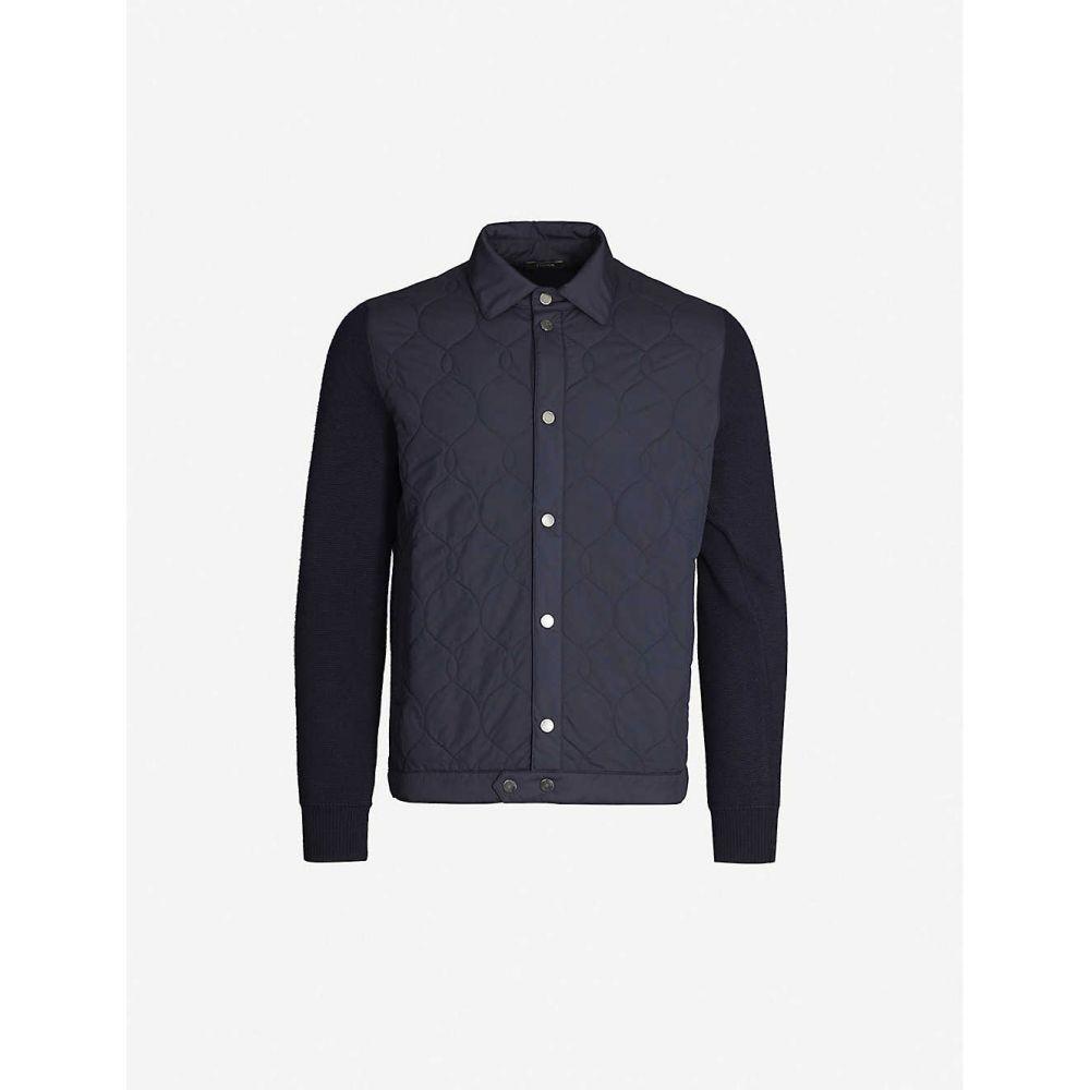 ジーゼニア Z ZEGNA メンズ アウター ジャケット【Quilted shell and wool jacket】Navy