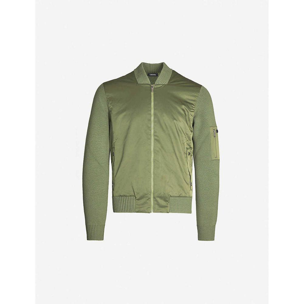 ジーゼニア Z ZEGNA メンズ アウター ジャケット【Patch-pocket shell and wool jacket】Army green
