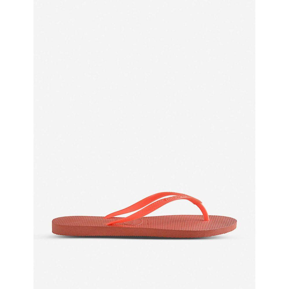 ハワイアナス HAVAIANAS レディース シューズ・靴 ビーチサンダル【Logo-embellished rubber flip-flops】Slim orange cyber
